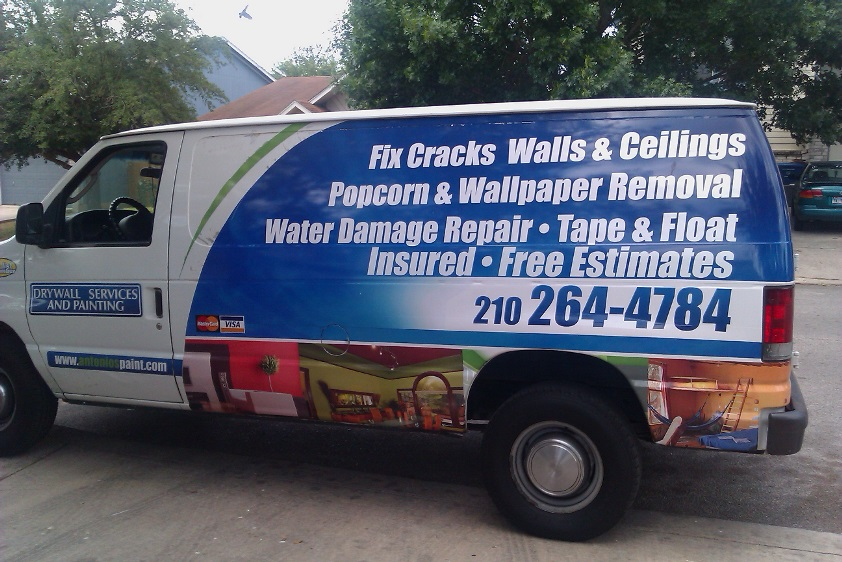 Antonio's Paint and drywall company van San Antonio TX
